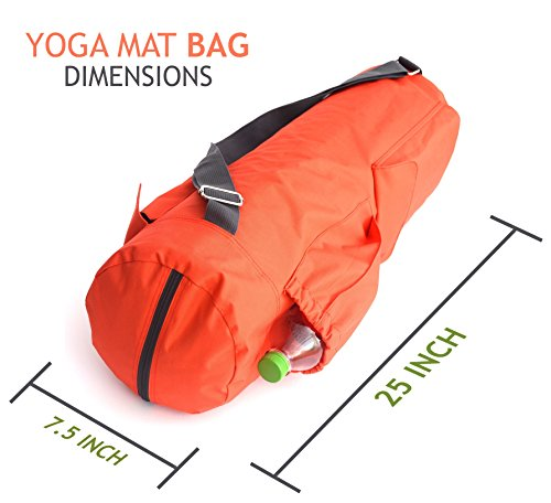 Large Yoga Mat Bag with Water Bottle Holder by Newk Yoga - Full ...