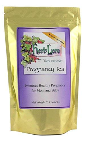 Herb Lore Pregnancy Tea - Organic Red Raspberry Leaf Tea for Pregnant Women - 60 Cups - Loose Leaf - Soothes Morning Sickness, Constipation, Leg Cramps and Anxiety During Pregnancy