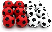 BQSPT Foosball Balls foose Balls Replacement 12 Packs,Table Soccer Balls Red and Black Ball 36mm White Soccer