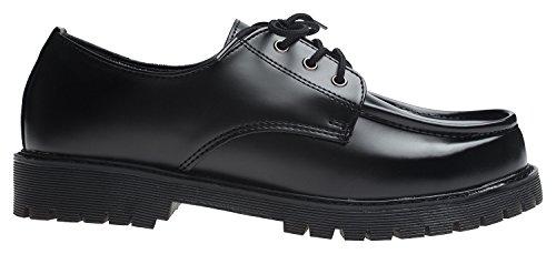 Agos Mens Casual Moc Teen Loafer Schoenen Zwart