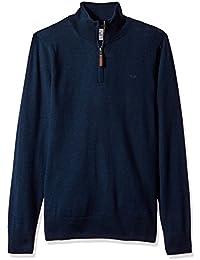 Dockers Men's Long Sleeve 1/4 Zip Merino Sweater