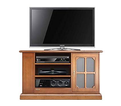 Mobile porta TV classico con vetrinetta, solido mobile in legno per ...