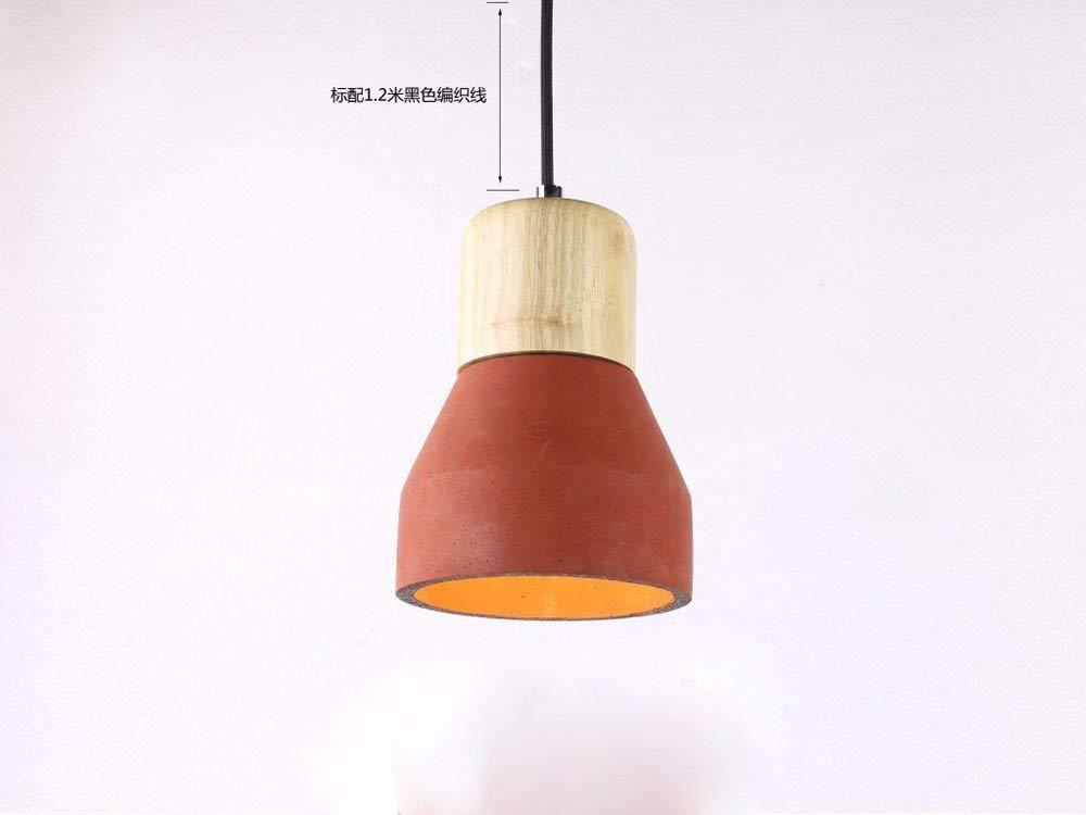 GUI Guo Home Vintage Kronleuchter Kreative Home Beleuchtung Persönlichkeit Restaurant Schlafzimmer Wohnzimmer Lampe Zement Retro Mini Taschenlampe 120  210 Mm Rot