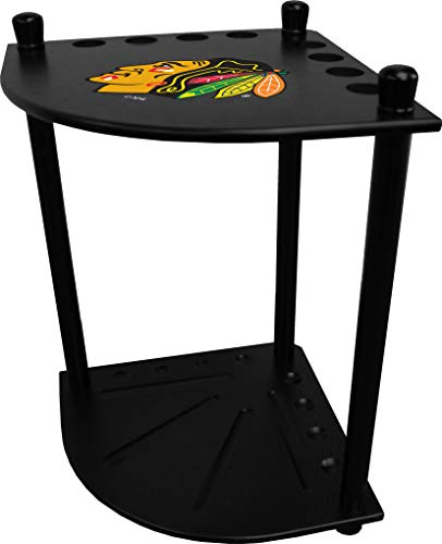 Imperial Officaly Licensed NHL Furniture: Corner Cue Rack, Chicago Blackhawks