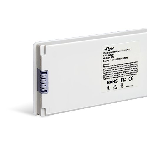 A1185 Battery Laptop Macbook Battery White Power Replacement for 13''MacBook Pro(2006&2007) Fits MA561, MA561FE/A, MA561G/A, MA561J/A, MA561LL/A [11.1v 56Wh] ARyee by ARyee (Image #3)