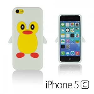 OnlineBestDigital - Penguin Style Silicone Case for Apple iPhone 5C - White