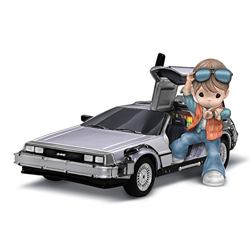 The Hamilton Collection Back to The Future Precious Moments Marty McFly and Delorean Porcelain Figurine