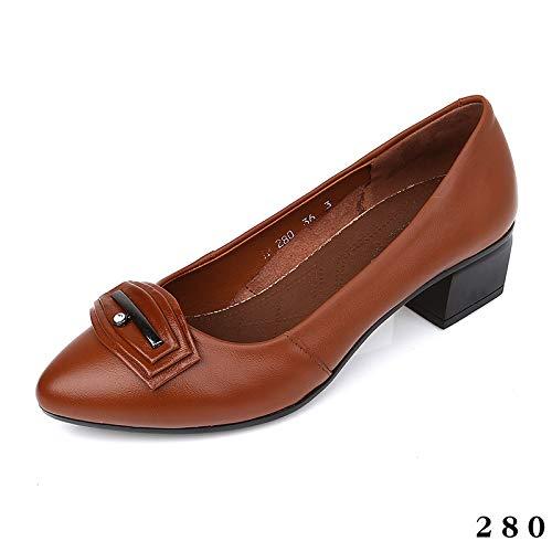 Zapatos Baja de Acentuados FLYRCX cómodos de de Oficina Zapatos Oficina la de F Zapatos Manera Zapatos de Zapatos de Las Cuero la Boca señoras PwtqqdcX