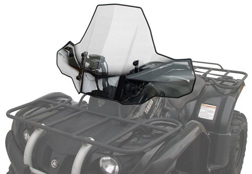 PowerMadd 24571 ProTEK Windshield for ATV - Standard Mount - Clear with black graphics