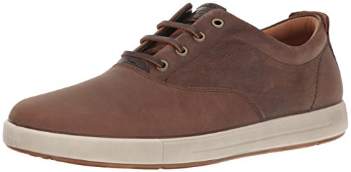 ECCO Men's Eisner Retro Fashion Sneaker, Cocoa Brown/Coffee, 40 EU/6-6.5 M US