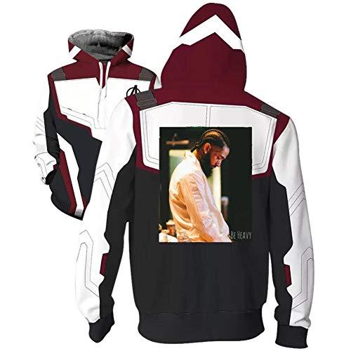 YTEVAJWW Nip-sey Hus-SLE Superhero Hoodie Adult Sweatshirt Jacket Halloween Cosplay Costume -