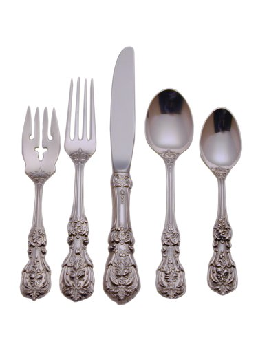 (Reed & Barton Francis First Sterling Silver 66-Piece Flatware Set with Chest, Service for 12,)