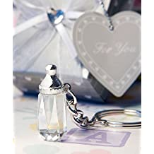 Choice Crystal & Glass Favors Baby Bottle Design Key Chain