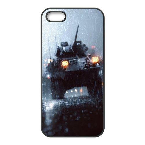 Battlefield Rain coque iPhone 4 4S cellulaire cas coque de téléphone cas téléphone cellulaire noir couvercle EEEXLKNBC23431