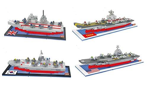Dr Star World Aircraft Carrier Warship Diamond Blocks Building Block Set DIY Toy (4 Boxes a Set)
