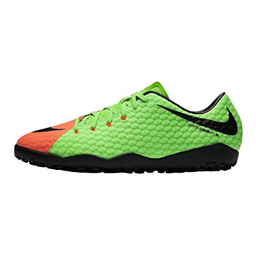 Nike Herren Hypervenomx Phelon III TF Fußballschuhe ELECTRIC GREEN/BLACK