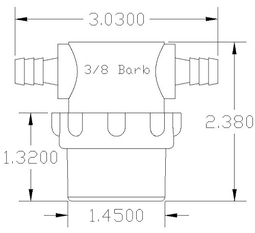 3/8'' Hose Barb In-Line Strainer with 50 mesh stainless steel filter screen