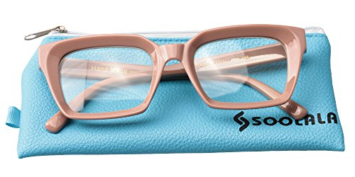 SOOLALA Retro Desinger 50mm Large Lens Square Reading Glass Big Eyeglass Frames