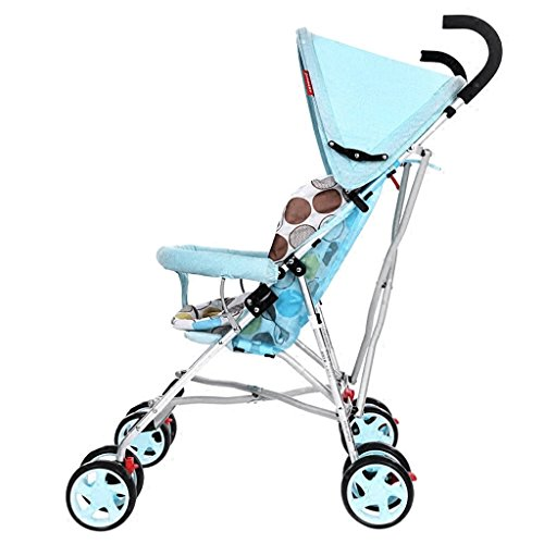 SXZHSM-Strollers Strollers Light Portable Folding Strollers Children's Strollers (Blue) (Navy Blue) 24 x 18 x 109.5cm (Color : Blue)