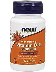 Now Foods Vitamin D-3, 1,000 IU, Softgels, 180ct