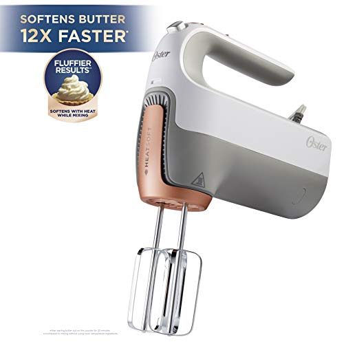 Oster FPSTHMSNC-W 270-Watt Hand Mixer with HEATSOFT Technology