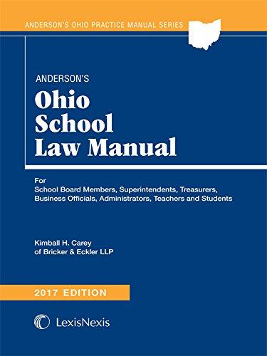 Anderson's Ohio School Law Manual 2017 Edition
