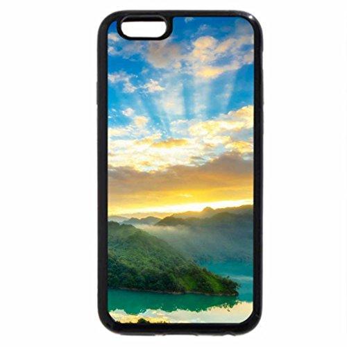 iPhone 6S / iPhone 6 Case (Black) sunrise above a green river