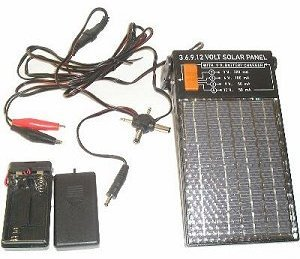 Amazon Com 3 6 9 And 12 Volt Solar Panel With 9 Volt