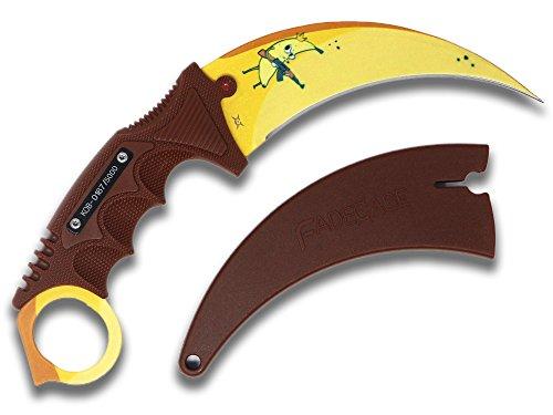 FadeCase Karambit Elite Fixed Blade Tactical Knife Collectible Skins Variation (King of Banana) (Elite Banana)