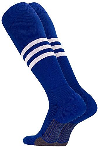 TCK Performance Baseball/Softball Socks (Royal/White, Medium)