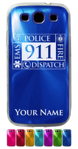 Case For Galaxy S3 Siii - Emergency Dispatcher 911 - Personalized Engraving Included