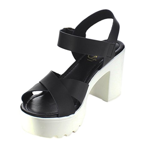 Platform Chunky 07 Refresh Gaga Black Women's Sandal TzwzS1x