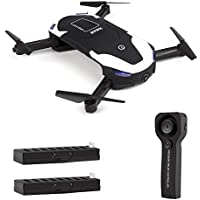 le-idea IDEA8 Stylish Funny FPV RC Drone with 720P HD WI-FI Camera Live Video, Foldable Selfie Pocket Drone for Kid & Beginner, Two Cameras,Two Alititude Holds,Follow Me,Gravity Sensor,2 Battery