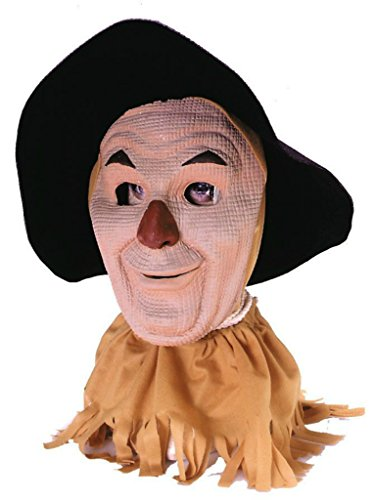 Deluxe Scarecrow Mask (Wizard Of Oz Scarecrow Cosplay Deluxe Latex Adult Halloween Costume Mask)