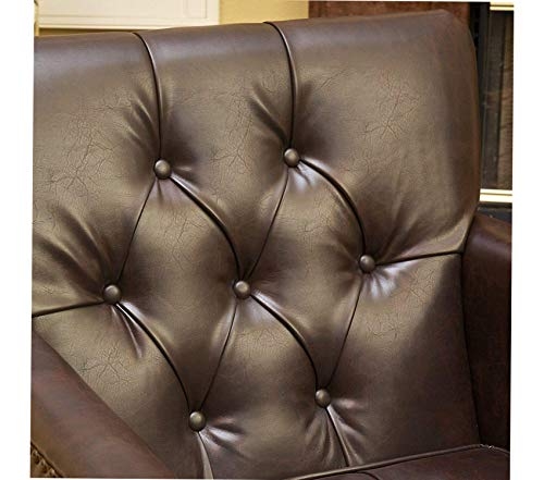 Premium Murphy Leather Club Chair, Brown