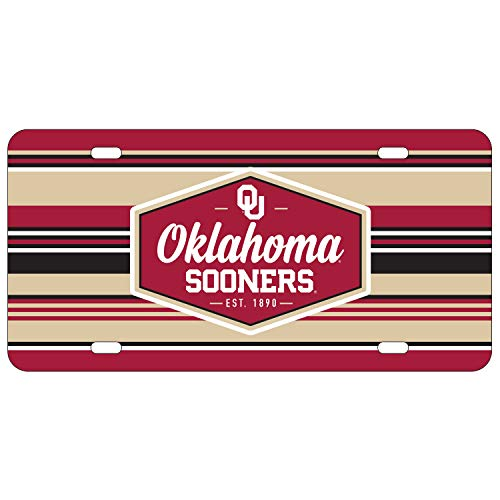 Wincraft Oklahoma Sooners Official NCAA License Plate Acrylic