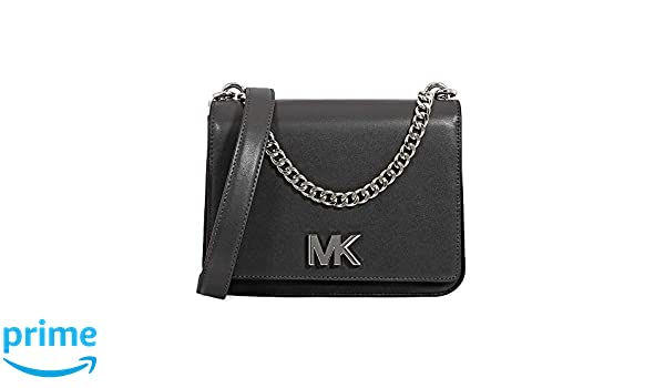 0ce2c2d4e7cd Michael Kors Mott Large Chain Swag Shoulder Bag King Leather - Charcoal  Multi  Amazon.com.au  Fashion