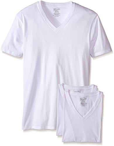 Original Penguin Men's Slim Fit 3 Pack V-Neck T-Shirt, White, Large (Shirts Trunk Tee)