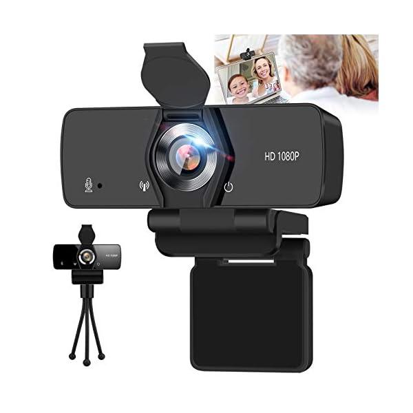 SFABF Webcam with Microphone1080P Webcam USB Web Camera for Desktop