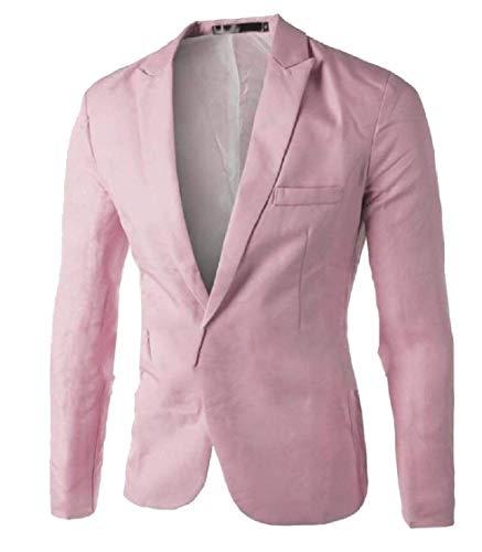 Casua Moderne Vestes Fashion Homme Revers Longues Slim Men's Business Blazer Bouton Casual 1 Costume Fit Manches Printemps 1 Colour vHqxYn0