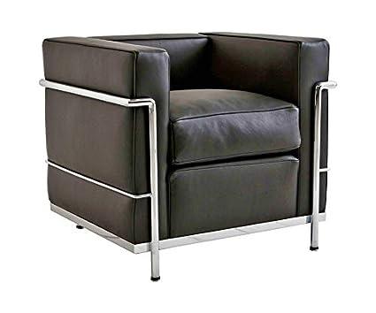 I4D LC2 Diseño Sofá Le Corbusier 1 Asiento Réplica - Piel ...