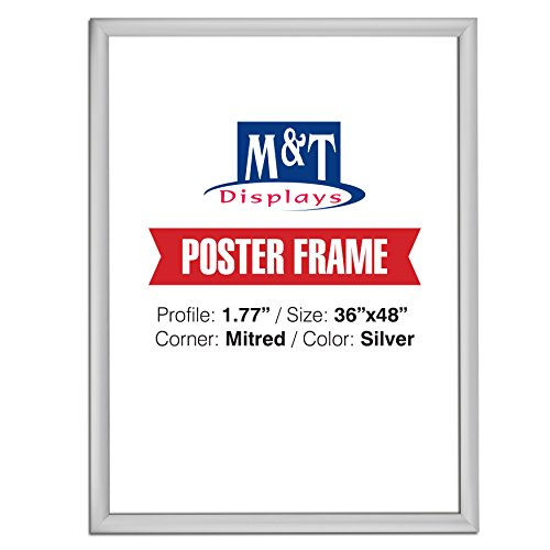 M&T Displays Snap Frame, 36X48 Poster Size, 1.77
