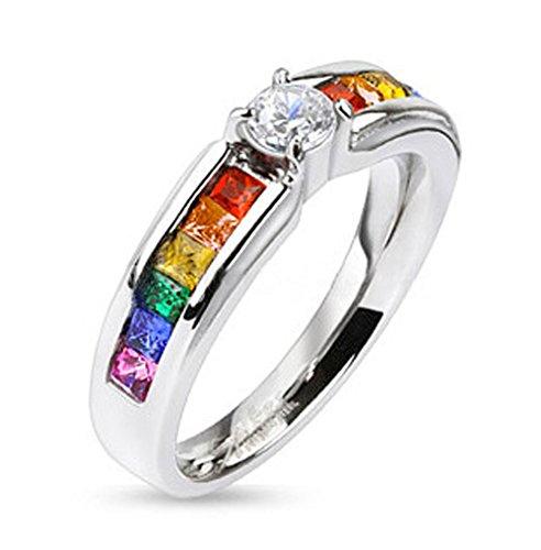 Pride wedding rings