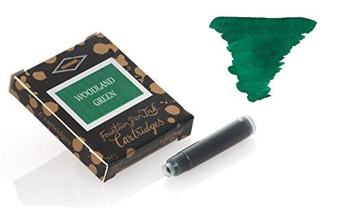Diamine Woodland Green 6 cartucce Standard Cartuccia di inchiostro