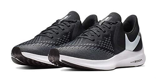Nike Womens Zoom Winflo 6 Running Sneakers Black/White-Dark Grey AQ8228-003 (10 B US)