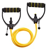 Joyfit - Adjustable Exercise Resistance Bands - Workout Abs, Arms, Legs, & Back Resistance Band Individual Or Set With Door Anchor (Yellow)