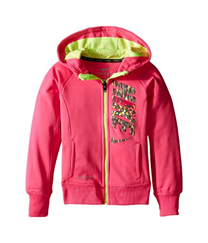 Nike Little Girls' Therma-Fit Hoodie (Sizes 4 - 6X) (6 Little Kids, Pink Pow)