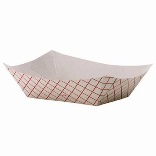 Dixie RP100 Kant Leek Polycoated Paper Food Tray, 4 7/10 x 1 3/5 x 6 1/4, Red Plaid, 1000/CT (Dixie Leek Kant)