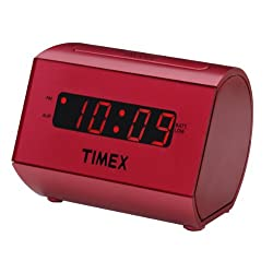 Timex T126 Large Display LED Alarm Clock (Red)