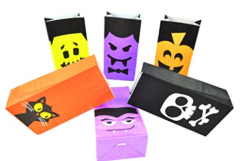 Halloween party gift bag packing bag storage bag Candy Bag Treat Bags Lunch Bags Goody Bags Party Favor - 24pcs
